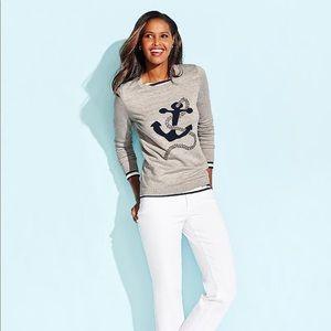 Talbots anchor sweater